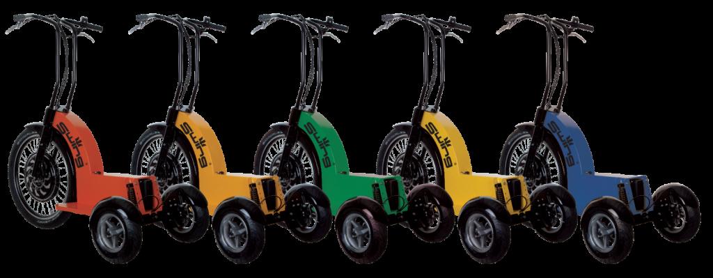 De Swing Trike is standaard leverbaar in meerdere kleuren