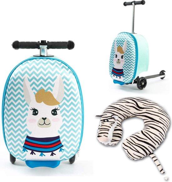 een alpaca handbagage koffer met step voor kinderen