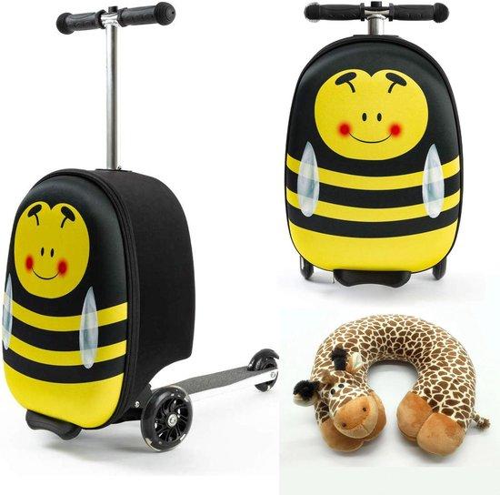 een bij handbagage koffer met step voor kinderen